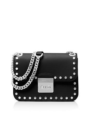 9e65e0df2b496 MICHAEL Michael Kors - Sloan Editor Chain Stud Medium Leather Shoulder Bag