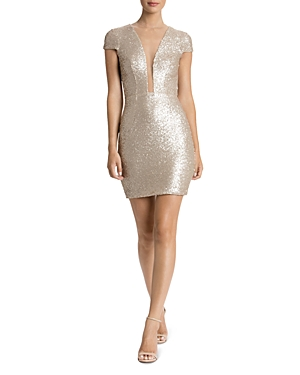 Dress the Population Kylie Illusion Sequin Dress