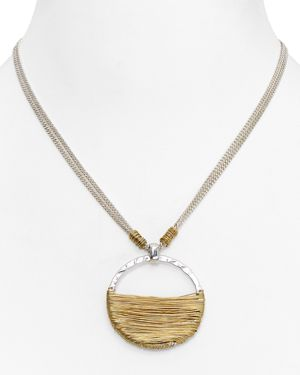 Robert Lee Morris Soho Wire Wrap Pendant Necklace, 16