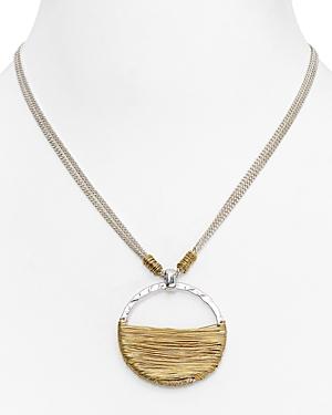 Robert Lee Morris Soho Wire Wrap Pendant Necklace, 16