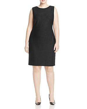 Calvin Klein Plus Ribbed Stripe Sheath Dress
