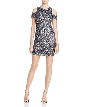 Parker Black Marcie Cold-Shoulder Sequined Dress