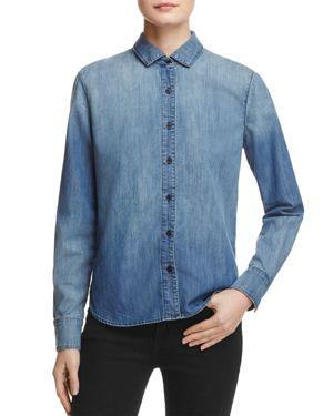 J Brand Azni Embroidered Denim Shirt - 100% Exclusive
