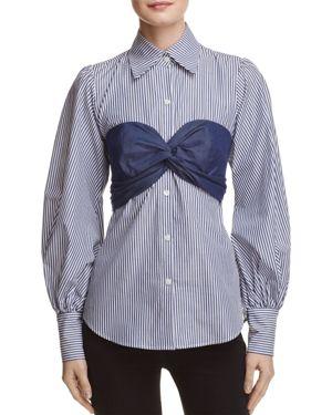 Petersyn Mia Bralette Stripe Shirt thumbnail