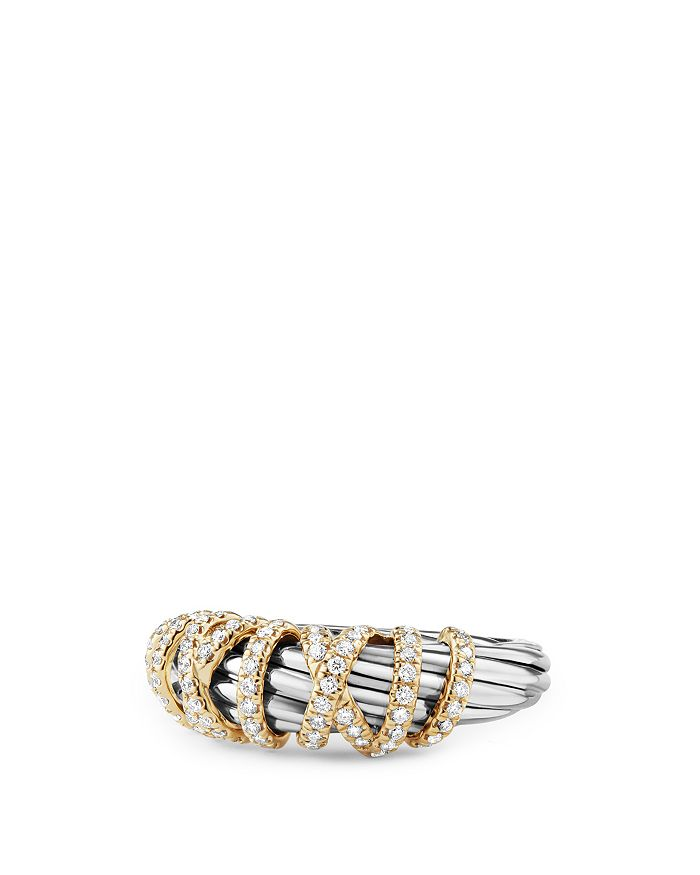 David Yurman - Helena Ring with Diamonds and 18K Gold