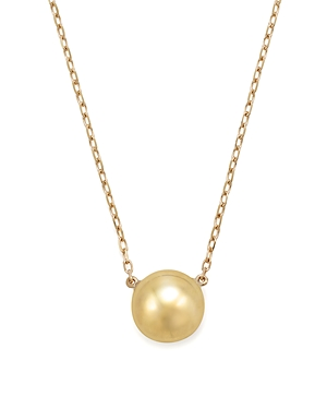 14K Yellow Gold Flat Ball Pendant Necklace, 18 - 100% Exclusive