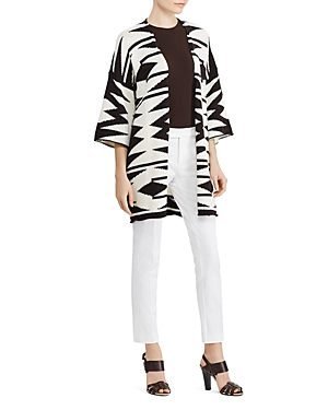Lauren Ralph Lauren Geo Print Kimono Cardigan