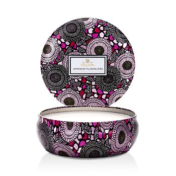Voluspa - Japonica Japanese Plum Bloom 3 Wick Candle in Decorative Tin