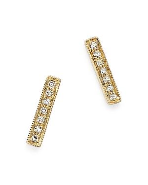 Dana Rebecca Designs Diamond Sylvie Rose Earrings in 14K Yellow Gold