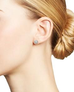 Roberto Coin - 18K White Gold Flower Earrings with Diamonds