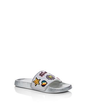 Steve Madden Girls' Embellished Slide Sandals - Little Kid, Big Kid