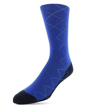 Bruno Magli Cotton Blend Argyle Trim Socks