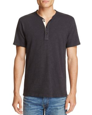 rag & bone Standard Issue Heathered Henley Tee
