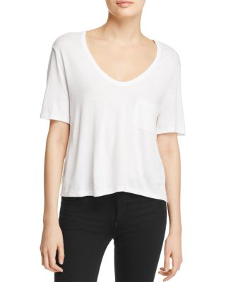 $T by Alexander Wang Classic Cropped Tee - Bloomingdale's