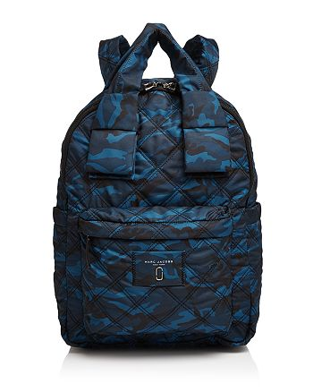 MARC JACOBS - Knot Camo Print Large Nylon Backpack