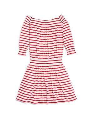 Splendid Girls' Off the Shoulder Stripe Dress - Big Kid