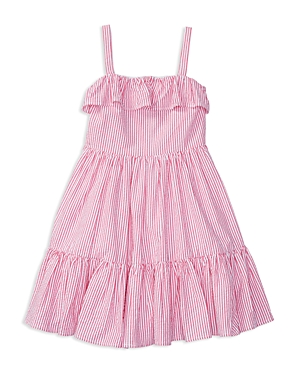 Ralph Lauren Childrenswear Girls Ruffled Seersucker Sundress  Little Kid