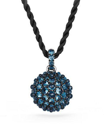 David Yurman - Osetra Pendant Necklace with Hampton Blue Topaz