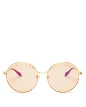 Sonix - Women's Oasis Mirrored Round Sunglasses, 60mm