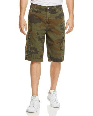 True Religion Camo Print Regular Fit Cargo Shorts