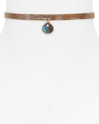 "Ela Rae - Lavender Embossed Pendant Choker Necklace, 12"""