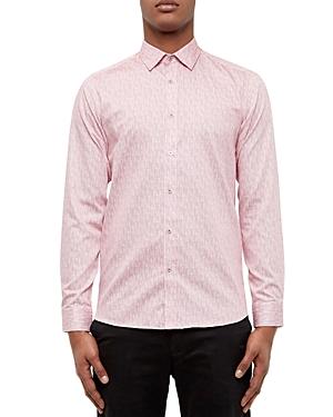 Ted Baker Mini Design Regular Fit Button-Down Shirt