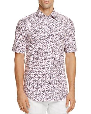 Canali Floral Print Regular Fit Button-Down Shirt