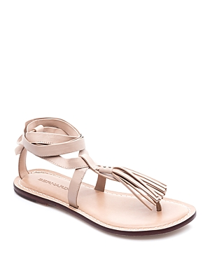 Bernardo Mosie Tassel Ankle Wrap Sandals