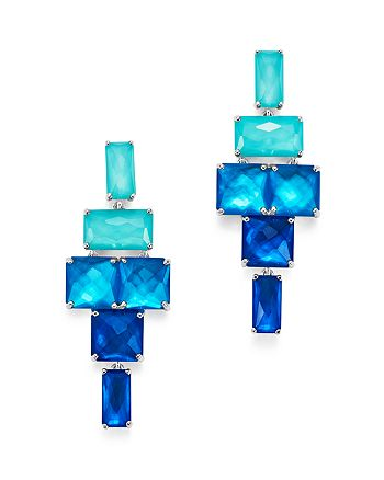 IPPOLITA - Sterling Silver Rock Candy® Stacked Rectangular Stone Earrings in Island