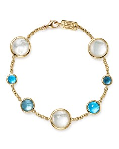 IPPOLITA - 18K Yellow Gold Lollipop 7-Stone Chain Bracelet in Raindrop