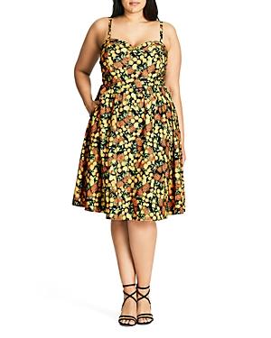 New City Chic Zesty Fun Dress, Yellow