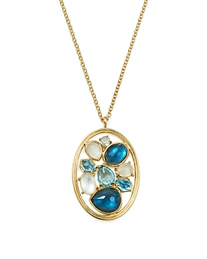 Ippolita 18K Yellow Gold Rock Candy Mixed Stone and Doublet Pendant Necklace in Raindrop, 16