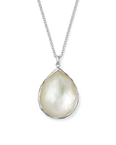 IPPOLITA - Sterling Silver Wonderland Large Teardrop Pendant Necklace In Mother-of-Pearl, 16""