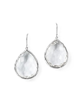 acdc2b7b91c IPPOLITA - IPPOLITA Sterling Silver Rock Candy Large Teardrop Earrings in Clear  Quartz ...