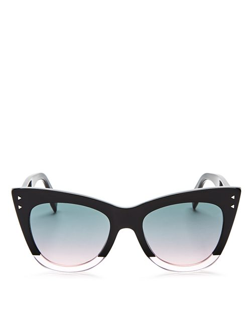 Fendi - Women's Two Tone Cat Eye Sunglasses, 50mm