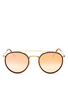 Ray-Ban - Unisex Icons Brow Bar Round Sunglasses, 51mm