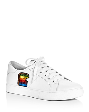 Marc Jacobs Toast Empire Embellished Lace Up Sneakers