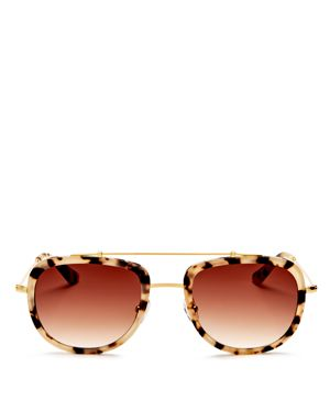 Krewe Breton Aviator Sunglasses, 53mm 2531952