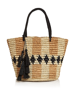 Sensi Studio Rombos Medium Straw Tote