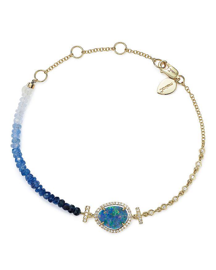 Meira T 14k Yellow Gold Opal Blue