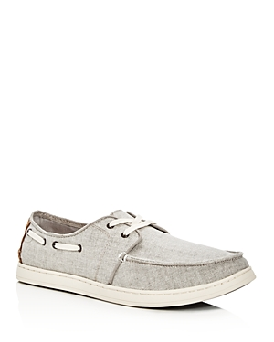 Toms Men's Culver Coated Linen Lace Up Boat Shoes
