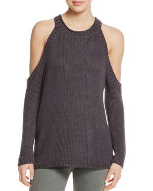 Aqua Cold Shoulder Sweater - 100% Exclusive