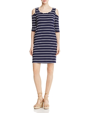 Cupio Cold Shoulder Stripe Dress