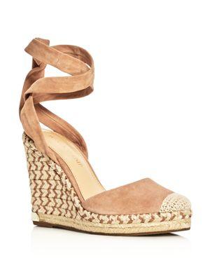 Ivanka Trump Winikka Ankle Tie Espadrille Wedge Sandals