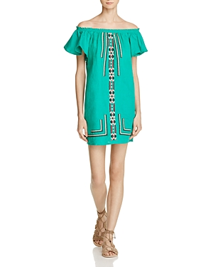 Piper Sublime Embroidered Off-the-Shoulder Dress