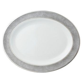 """Bernardaud - Sauvage Oval Platter, 13"""""""
