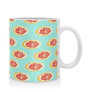 Deny Designs Bouffants and Broken Hearts Grapefruit Mug
