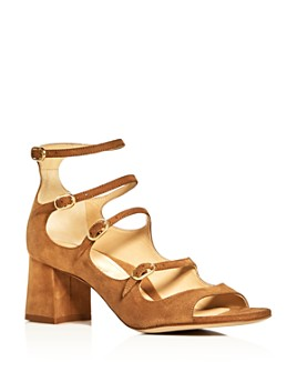 MARION PARKE - Women's Bernadette Suede Strappy Mary Jane Block-Heel Sandals