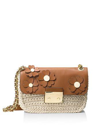 28bddda4ba86 MICHAEL Michael Kors Sloan Chain Floral Large Shoulder Bag ...