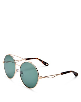 Givenchy - Women's Double Brow Bar Oversized Round Polarized Sunglasses, 60mm